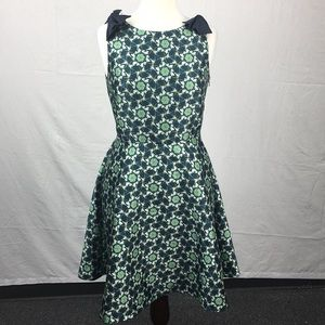 Ted Baker Dark Blue Sainte Kaleidoscope Bow Dress
